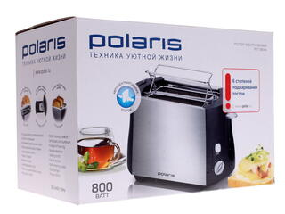 Тостер Polaris PET 0804A серебристый